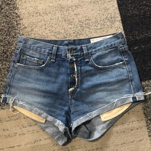 Rag & Bone High Rise Marilyn Fly Shorts sz 25